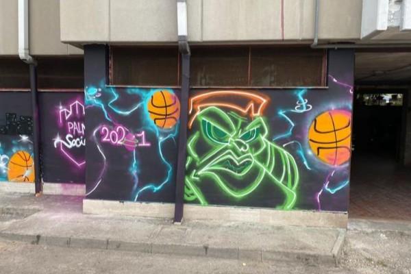 Palma Campania, dei murales accompagnano la nascita del campo di street basket 'Tommaso Sorrentino'