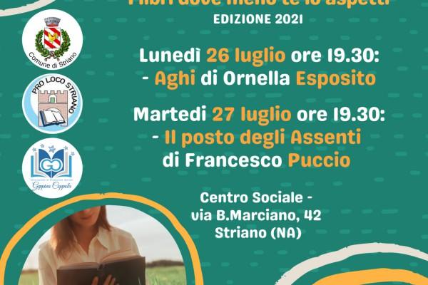 """A Striano torna """"Stringiamoci a corte"""" con i libri di Ornella Esposito e Francesco Puccio"""